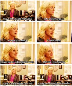 This is what started it all I saw this in tumblr once couldn't stop laugh  and immediately started watching parks and rec on netflix and never looked back!