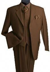 Mens 3 Piece Vested 3 Buttons Brown Three Piece Suit Side Vent Pleated Pants - Best Fashions for All Sharp Dressed Man, Well Dressed Men, Dress Suits, Men Dress, Discount Suits, Best Suits For Men, Brown Suits, Black Suits, Three Piece Suit