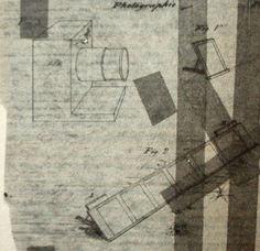 Desenho representando o equipamento da fotografia, datado de 1837 (Foto: Coleção Arnaldo Machado Florence/Reprodução de 'Hercule Florence - A descoberta isolada da fotografia no Brasil', de Boris Kossoy)