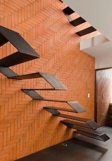 Proyecto Rojo Luz 2 - RojoLuz - Stylish Home Decorating Designs Stairs Architecture, Architecture Details, Modern House Design, Modern Interior Design, Steel Stairs, Modern Stairs, Staircase Design Modern, Stair Steps, Interior Stairs