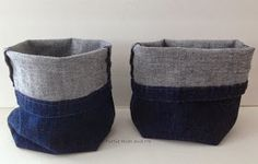 Purple Hues and Me: Quick and Easy Hand Sewn Upcycled Denim Storage Basket & Flowers