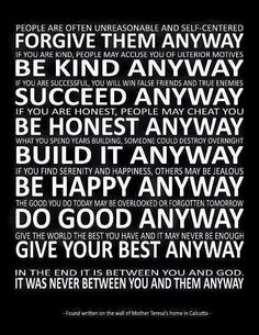 Do what is right Anyway...