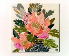 Original Floral Painting Artwork direct from artist by Lunartics
