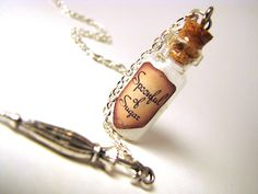 Spoonful of Sugar - Mary Poppins - Glass Bottle Cork Necklace - Potion Vial Charm - Magic Spells. $18.00, via Etsy.