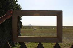 Framed - le Mont Saint Michel - Photography Composition Technique with pallet wood