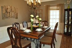 Favorite Paint Colors: dining room  Earthy Gray by Better Homes and Gardens