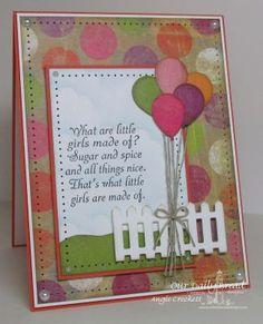 Stamps - Our Daily Bread Designs Little Girls, ODBD Custom Happy Birthday Dies, ODBD Custom Fence Die