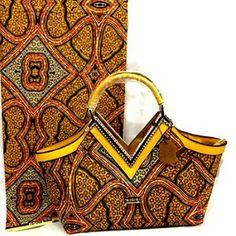 African Satchel Bag, Brown African Print Tote Bag