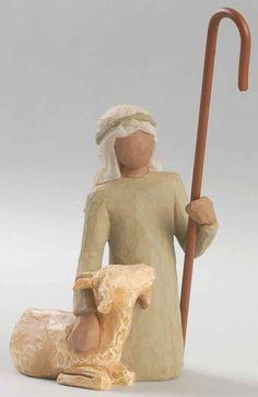 Demdaco WILLOW TREE NATIVITY FIGURINE Shepherd Kneeling (No Box) 7138161