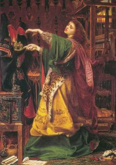 Morgan Le Fay; Queen of Avalon by Anthony Frederick Sandys