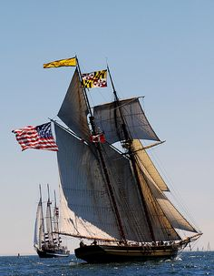 Topsail schooner Pride of Baltimore II.