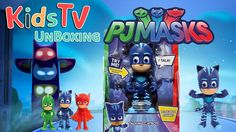 Gideon and Logan unbox the PJ Masks Deluxe 6 inch Talking Catboy.  Nighttime is the right time to fight crime with the PJ Masks Talking Catboy Figure! This 6 inch poseable hero figure is the perfect choice for every PJ Masks fan! Press Catboy's hero amulet to hear him say fun phrases from the show! Catboy is poseable so you can move him into dynamic action poses for endless hero play! Collect all three figures including: Catboy Gekko and Owlette and create your own PJ Masks adventures! Each…