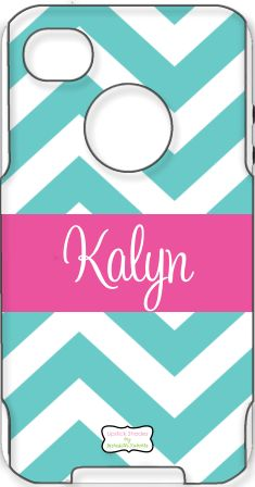 This is a personalized Otterbox case for an iPhone!