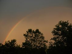 Rainbow earlier this evening (03June2012) — at Princeton, NJ