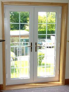 Superieur White French Doors With Internal Georgian Bars