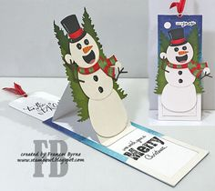 StampOwl's Studio: Snowman Surprise Christmas Snowman, Christmas Cards, Christmas Ornaments, Christmas Sentiments, Snowman Cards, Mft Stamps, Broken China, Holiday Wishes, Winter Cards