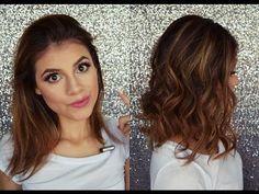 Rizos para cabello corto con plancha - YouTube