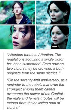 there shouldnt be an argument that katniss never loved peeta. or that she picked him cuz he was just there.