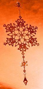snowflake dangles - crochet free pattern
