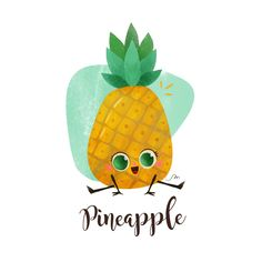 Tutti frutti party a project by Martuka. Domestika is the largest community for creative professionals. Cartoon Pineapple, Pineapple Drawing, Pineapple Art, Tutti Frutti, Cartoon Drawings, Cute Drawings, Cute Pineapple Wallpaper, Kawaii, Pineapple Pictures