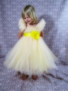 Girls flower girl tulle dress by TheCreatorsTouch on Etsy