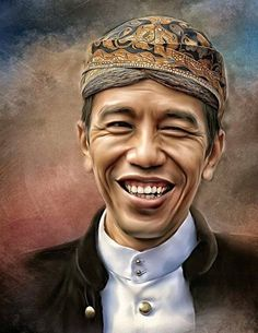 The President of Indonesia Mr. Joko Widodo (Jokowi) in oil painting art. Painting Love Couple, Indonesian Art, Classic Paintings, Joko, Color Pencil Art, Calligraphy Art, Artist Painting, Face Art, The Ordinary
