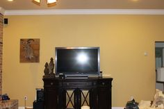 My 27 Cents Worth: Tall Walls and Big TVs - From boring to bursting with décor!
