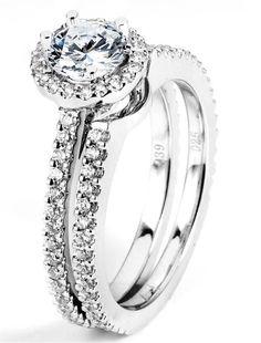 0.39 ctw Prong Setting G SI2 Round Brilliant Diamond 14k White Gold Semi Mount Engagement Ring