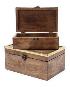 Rashida 2-Piece Nesting Trinket Box Set