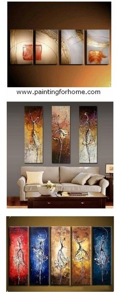 Large Hand Painted Art Paintings For Home Decoration. Large Wall Art,  Canvas Painting For Bedroom, Dining Room And Living Room.