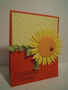 Happy Sunflower by ahelynck - Cards and Paper Crafts at Splitcoaststampers