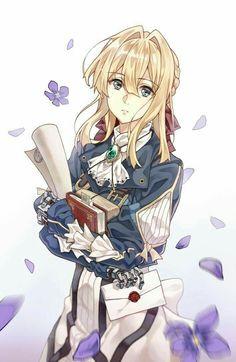 or 💕 -Anime: Violet Evergarden Anime Angel, Kyoani Anime, Anime Kawaii, Anime Art, Anime Japan, Art Violet, Violet Evergarden Anime, Anime Cosplay, Fan Art