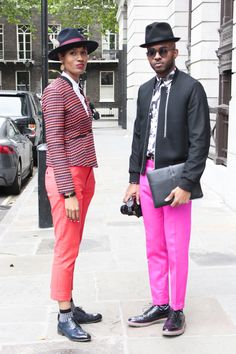 Our favorite brother-sister fashion team: Martell and Donya-Patrice in London @mrflyycampbell