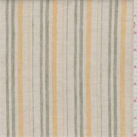 Ecru/Green Stripe Linen