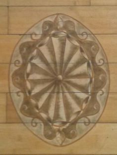 Patera, hand painted by Donzine.on bamboo flooring . Floors, Bamboo, Walls, Hand Painted, Painting, Home Tiles, Wands, Painting Art, Wall