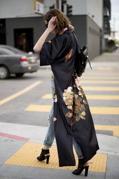 black kimono street style