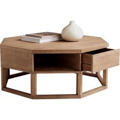 Distinctive octagonal shape. Sunpan 30191 Orga Coffee Table in Reclaimed Look @ http://www.dynamichomedecor.com/Sunpan-30191.html