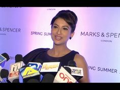 Bollywood beauty Gauhar Khan at the Marks & Spensor's summer collection launch. For more Gauhar Khan's latest news, gossips, hot photos, hot videos, pho. Gauhar Khan, Summer Collection, Interview, Product Launch, Photoshoot, London, Music, Youtube, Musica