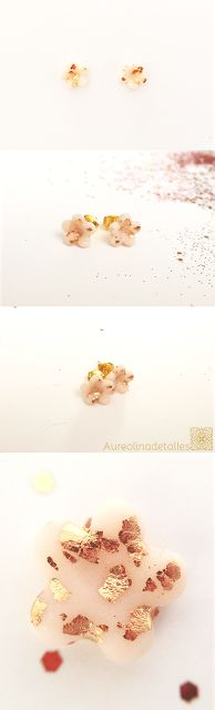 Pendientes flor Colección Rose Desert, joyas para regalar ese día tan especial