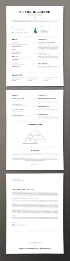 Nurse Resume Template  Medical Cv  Cv Template  Free Cover