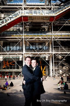 Sam and Jordans's Civil Partnership in #London and #Paris  #GayWedding #CivilPartnership #Love #EqualMarriage #Pompidou
