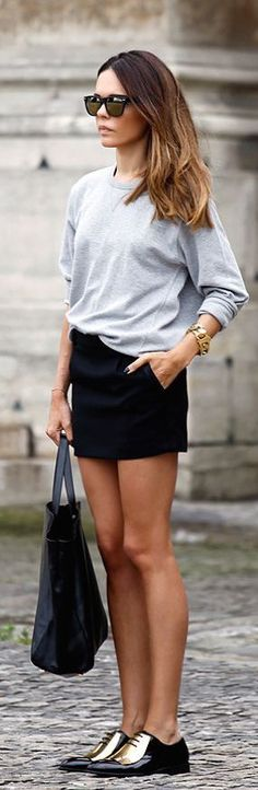 #street #fashion casual / long sleeve + gold @wachabuy