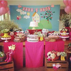 Festa fofa da Peppa Pig, toda pink e fofa! By @ap_kidsparty  #kikidsparty