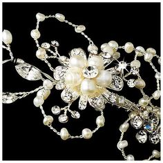 Second Glance Fashions - Silver Freshwater Pearl Circlet Bridal Wedding Bridal Headband Tiara