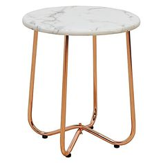 Tiffany Marble Side Table, Copper by Life Interiors