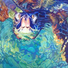 Swimming turtle by resident artist Nancy Stark