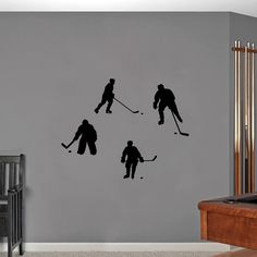 Sweetums Hockey Players Small Wall Decals
