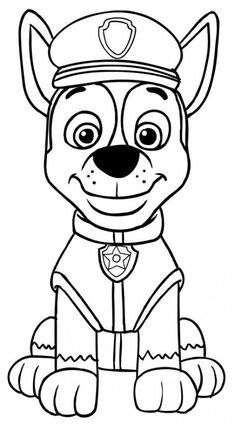 Paw Patrol Chase coloring pages printable and coloring book to print for free. Find more coloring pages online for kids and adults of Paw Patrol Chase coloring pages to print. Paw Patrol Rocky, Rubble Paw Patrol, Paw Patrol Cake, Paw Patrol Party, Paw Patrol Birthday, Paw Patrol Coloring Pages, Cartoon Coloring Pages, Coloring Pages To Print, Coloring For Kids