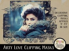 Photoshop Photo Clipping Masks - 5 Photoshop Art Photography Masks - Digital Scrapbook Photo Masks Photoshop Masks Digital Photo masks by ClikchicDesign Photoshop Mask, Photoshop Shapes, Photoshop Photos, Photoshop Design, Photoshop Photography, Photoshop Elements, Love Photography, Photoshop Actions, Photoshop Tutorial