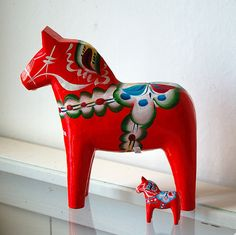 18th December ~ Eponalia in honour of Epona, Celtic Mother Goddess, patron of Horses. In Sweden Dala horses have been made as gifts of exchange for a a very long time.